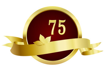 75 Years Anniversary, Button