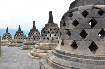 Small stone pagoda