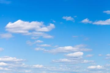 little light clouds in blue sky