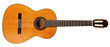 Leinwanddruck Bild - full view of spanish acoustic guitar