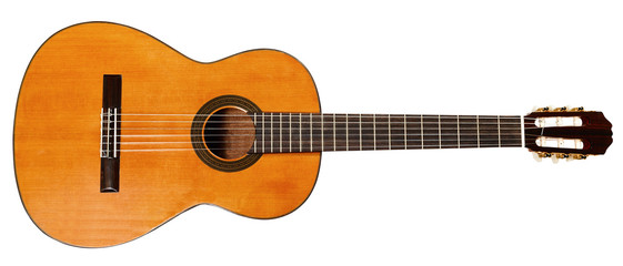 full view of spanish acoustic guitar