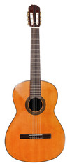 spanish classical acoustic guitar isolated