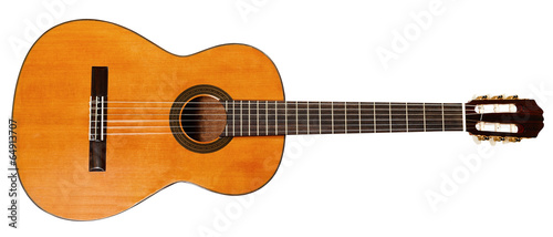 Leinwanddruck Bild full view of spanish acoustic guitar