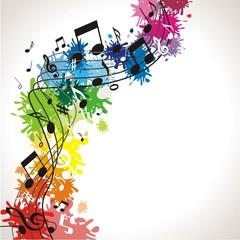 bunter musikalischer Hintergrund