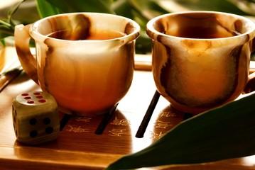 tea ceremony, dice