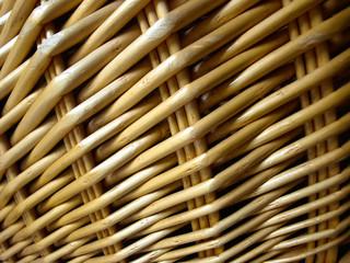 closed up wickerwork of basket