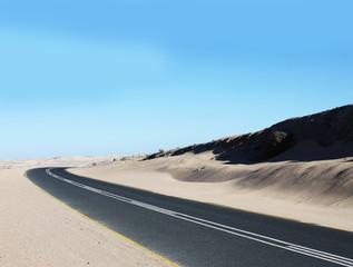 Strasse in der Wüste