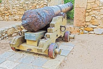 Cannon in Tarragona, Spain