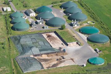 Biogasanlage - Vogelperspektive