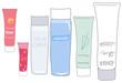 基礎化粧品セット/商品ラベル付き