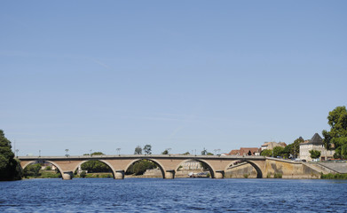 Bergerac old bridge France