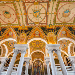 Library of Congress, interior of the building, DC