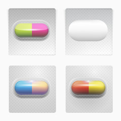 Illustration of colored pills