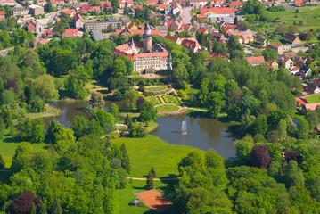 Schloss Wiesenburg - Vogelperspektive