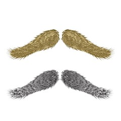 abstract vintage  mustaches