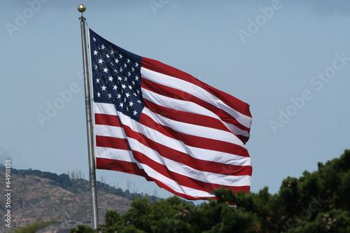 Poster Amerikanische Flagge