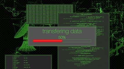 Looping computer screen downloading data (HD)