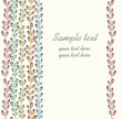 Cute spring floral seamless pattern in red, green, blue