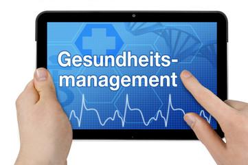Tablet mit Interface und Gesundheitsmanagement