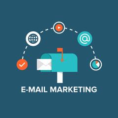 E-mail marketing flat illustration