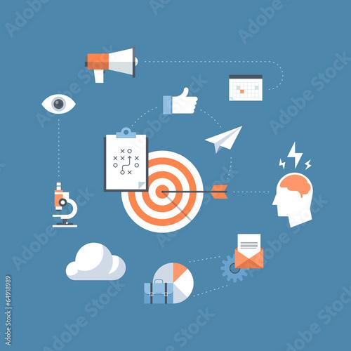 Marketing strategy flat illustration concept