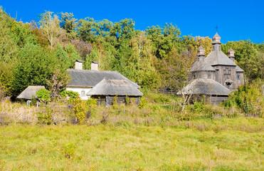 Old traditional village in Ukraine