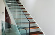 hardened glass balustrade in house - 64919983