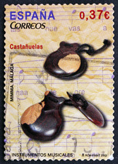 Postage stamp Spain 2013 Castanets, Musical Instrument
