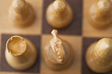 top view of chess board