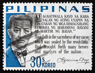 Postage stamp Philippines 1966 Emilio Aguinaldo, Revolutionary