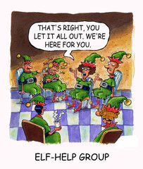 Elf-Help Group:  '...We're here for you.""