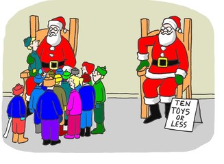 'Ten toys or less' Santa