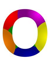 renkli o harfi tasarfımı