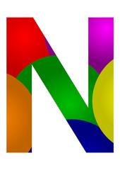 renkli n harfi tasarfımı