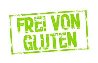 Stempel mit Frei von Gluten