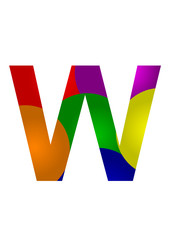 renkli w harf tasarımı