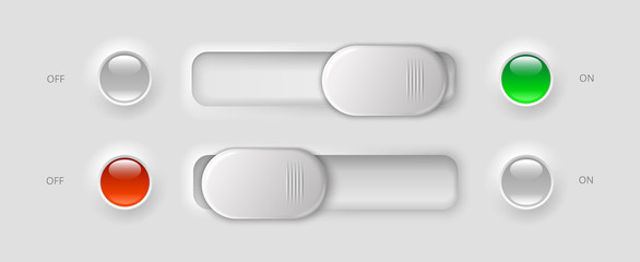 modern ui elements - switches and LED lights