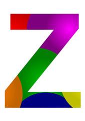 renkli z harfi tasarımı
