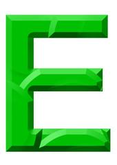 yeşil e harf tasarım