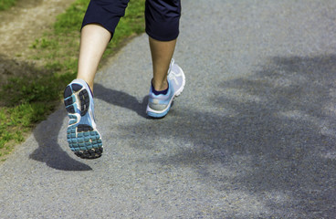 Running shoes closeup fitness workout healthy lifestyle fitness