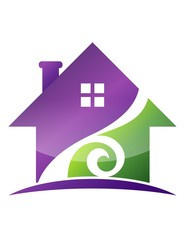 House pro real estate solution Logo Family Build