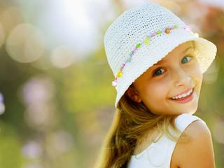 Summer, lovely girl enjoying summer vacations