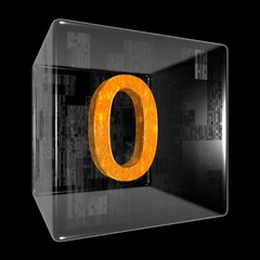 Orange zero in a transparent design box