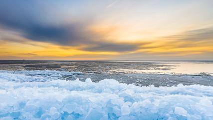 Early morning winter landscape