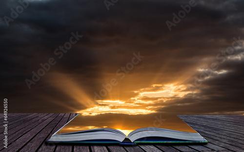 Aluminium Zonsondergang Creative concept image Stunning vibrant Summer dramatic sunset s