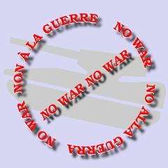 NO ALLA GUERRA NO WAR COLORI MODOFOCABILI