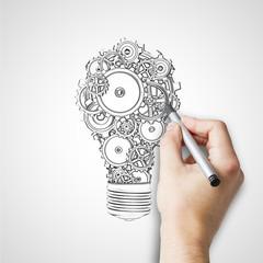 hand drawing bulb