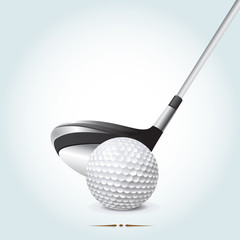 Golf ball with club
