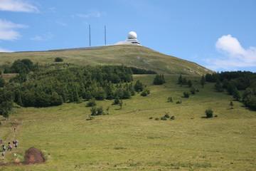 Radar au sommet du Grand-Ballon (Vosges, Alsace)