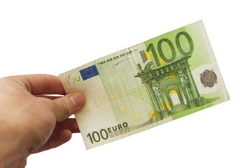 100 Euro Hand